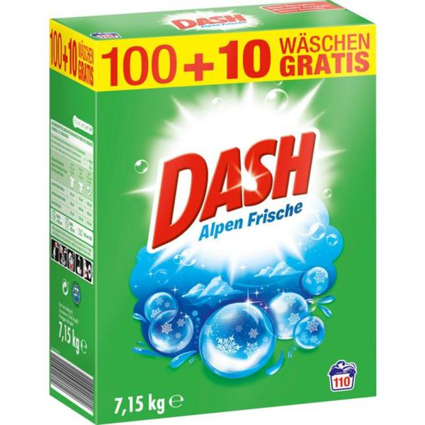 Dash Vollwaschmittel Alpen Frische Pulver 110 WL 0.09 EUR/1 WL