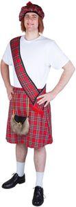 Kostüm - Schotte - für Erwachsene - 3-teilig