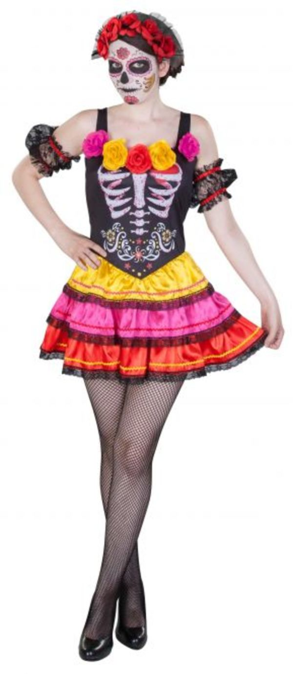 Kostüm - Day of the dead - für Erwachsene - 3-teilig