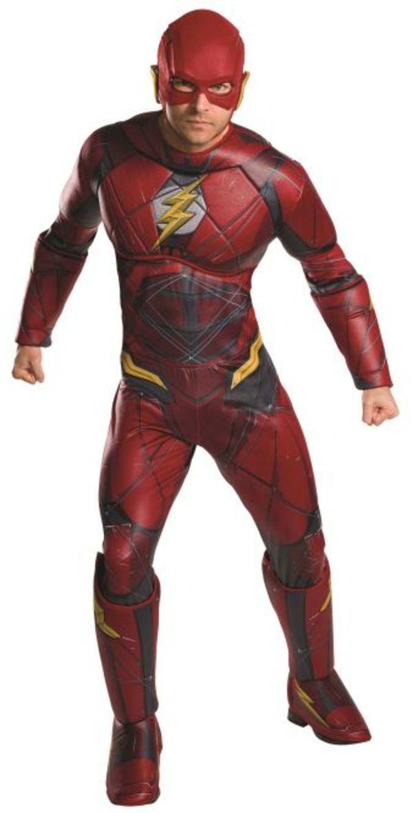 The Flash Kostüm für Erwachsene - DC Justice League - 2-teilig - verschiedene Größen
