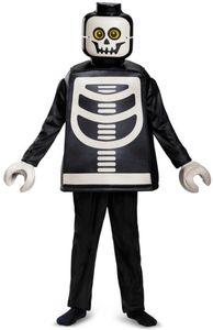 LEGO® Kostüm - Skelett - Deluxe-Serie - für Kinder - 4-teilig - verschiedene Größen