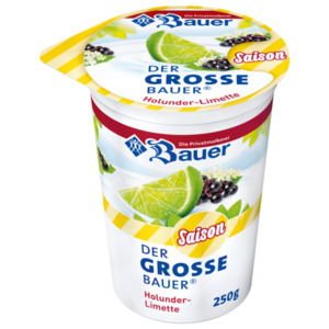 Bauer Frucht-Joghurt Holunder-Limette 250g