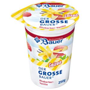 Bauer Frucht-Joghurt Rhabarbar Vanille 250g