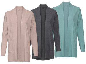 ESMARA® PURE COLLECTION Damen Feinstrickcardigan