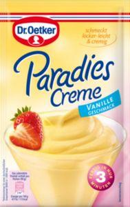 Dr. Oetker Paradies-Creme Vanille für 300 ml Milch