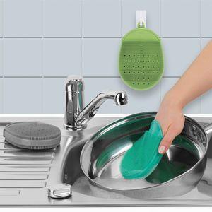 CLEANmaxx Reinigungshandschuh Silikon 3-tlg. 15x10cm grau/grün/türkis