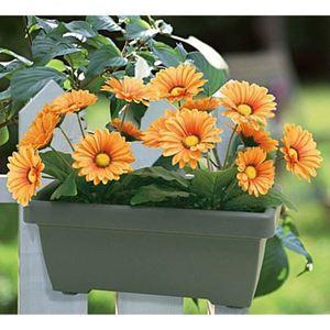 Balkonkasten mit künstlichen Gerbera Orange