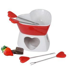 Schokoladenfondue-Set aus Keramik 6-teilig