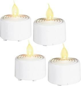 Grundig LED-Teelicht 4er Set Kerze LED 06178 Weiß