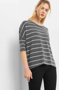 ¾-Shirt mit Streifenmuster