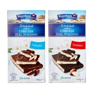 WATERKANTSCHMAUS     Schokolade mit Lübecker Edel Marzipan