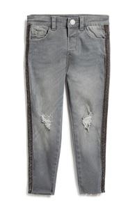 Jeans mit Glitzerstreifen (Mädchen)