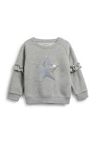 Pullover mit Paillettenstern (Mädchen)