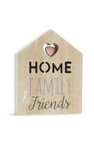 """""""Home Family And Friends"""" Schild"""