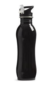 Sportflasche aus schwarzem Stahl