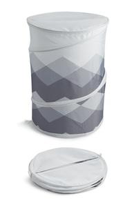 Faltbarer Wäschekorb in Grau
