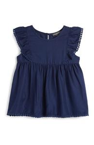 Marineblaue Bluse (kleine Mädchen)