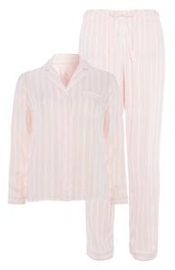 Rosa gestreiftes Pyjamaset