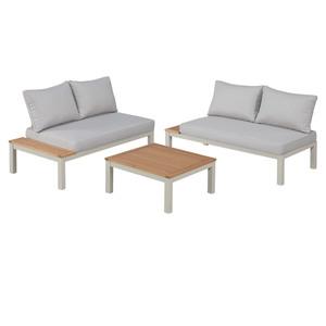 Garten-Lounge-Set Malibu (1 Tisch, 2 Sofas, mit Auflagen)