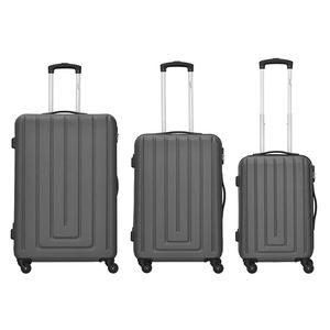 Packenger 3er Koffer-Set ´´Razor´´ Trolley-Set Hartschale (M, L & XL) / 4 Gummi