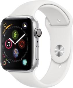 Apple Watch Series 4 (44mm) GPS mit Sportarmband silber/weiß
