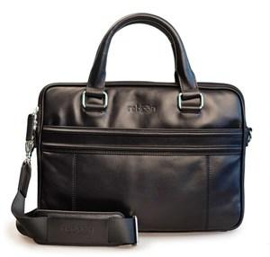 reboon bag 17´´ Leder Laptoptasche schwarz