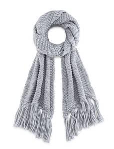 Fransen-Schal von Belmondo in grau für Damen