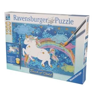 Ravensburger Puzzle, Einhorn, Touch of Gold, 1200 Teile