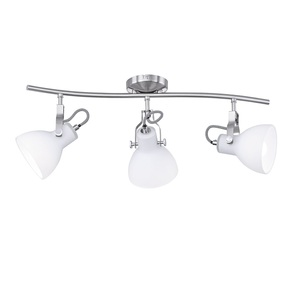 TRIO Retrofit Deckenlampe GINELLI 3 flg nickelfarbig