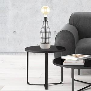 Tischlampe Zement, rund