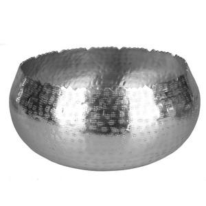 Design-Schale, gezackt, Aluminium, silber, klein