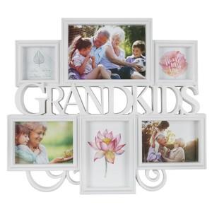 Bilderrahmen, 6-fach, Grandkids, 41,5 x 36,5 x 3 cm, weiß