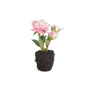 Pfingstrose in Kunsterde, H:20cm, rosa