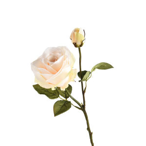 Stielblume Rose, L:38cm, weiß