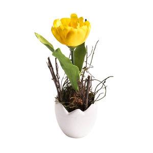 Tulpe in Eitopf gelb H:20 cm