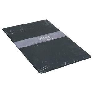 Schieferplatte, L:30cm x B:45cm, schwarz
