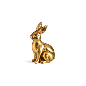 Dekofigur Golden Rabbit, L:13cm x H:15cm, gold