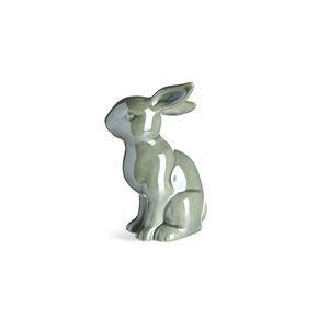 Dekofigur Shiny Rabbit, B:9cm x L:13,5cm, blaugrün