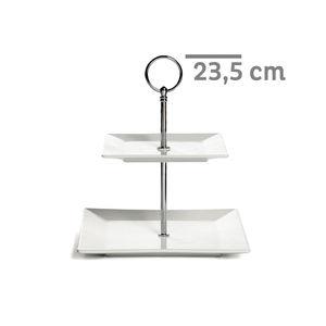 Etagere Square 2-stufig, H:23,5cm, weiß