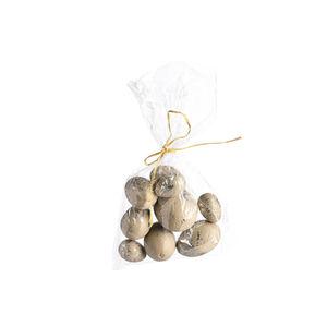 Eier Sprinkle, L:8cm, 9er-Set, beige