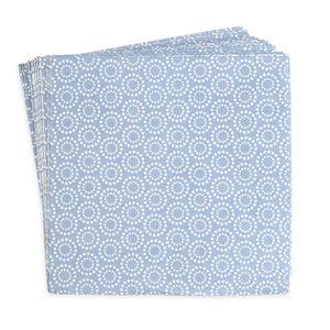 Serviette Kreise, 20 Stück, FSC Mix, blau