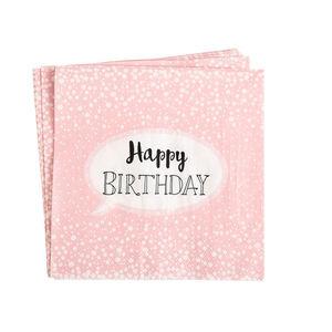 Serviette Birthday, 20 Stück, FSC® Mix, altrosa
