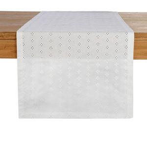 Tischläufer Spitze, B:40cm x L:150cm, weiß