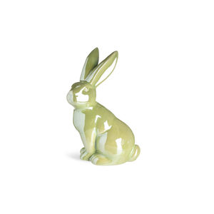 Dekofigur Shiny Rabbit, B:13cm x L:18,5cm, hellgrün