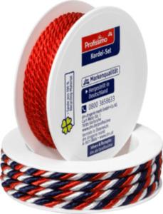 Profissimo Kordel-Set rot/rot-weiß-blau