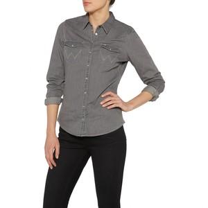 Wrangler            Western Denim Damen Shirt grey indigo XL