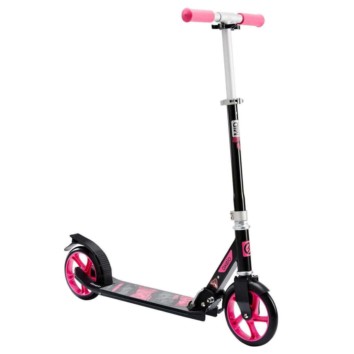 Bild 1 von City-Roller Scooter Mid 7 mit Ständer schwarz/rosa