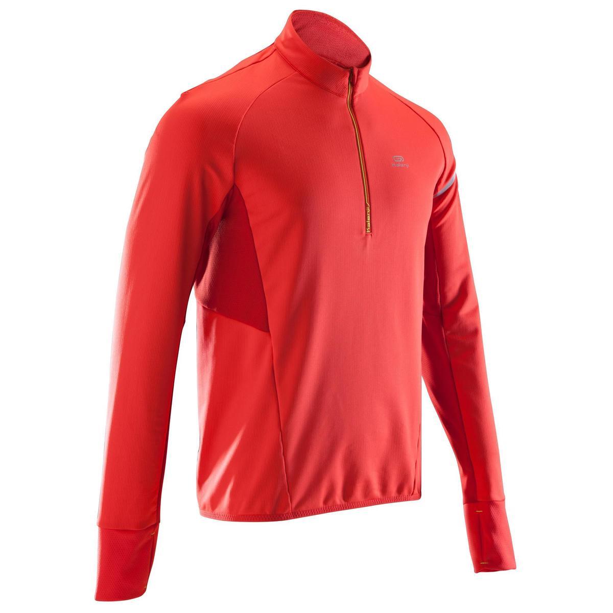 Bild 1 von Laufshirt langarm Kiprun Warm Light Herren rot
