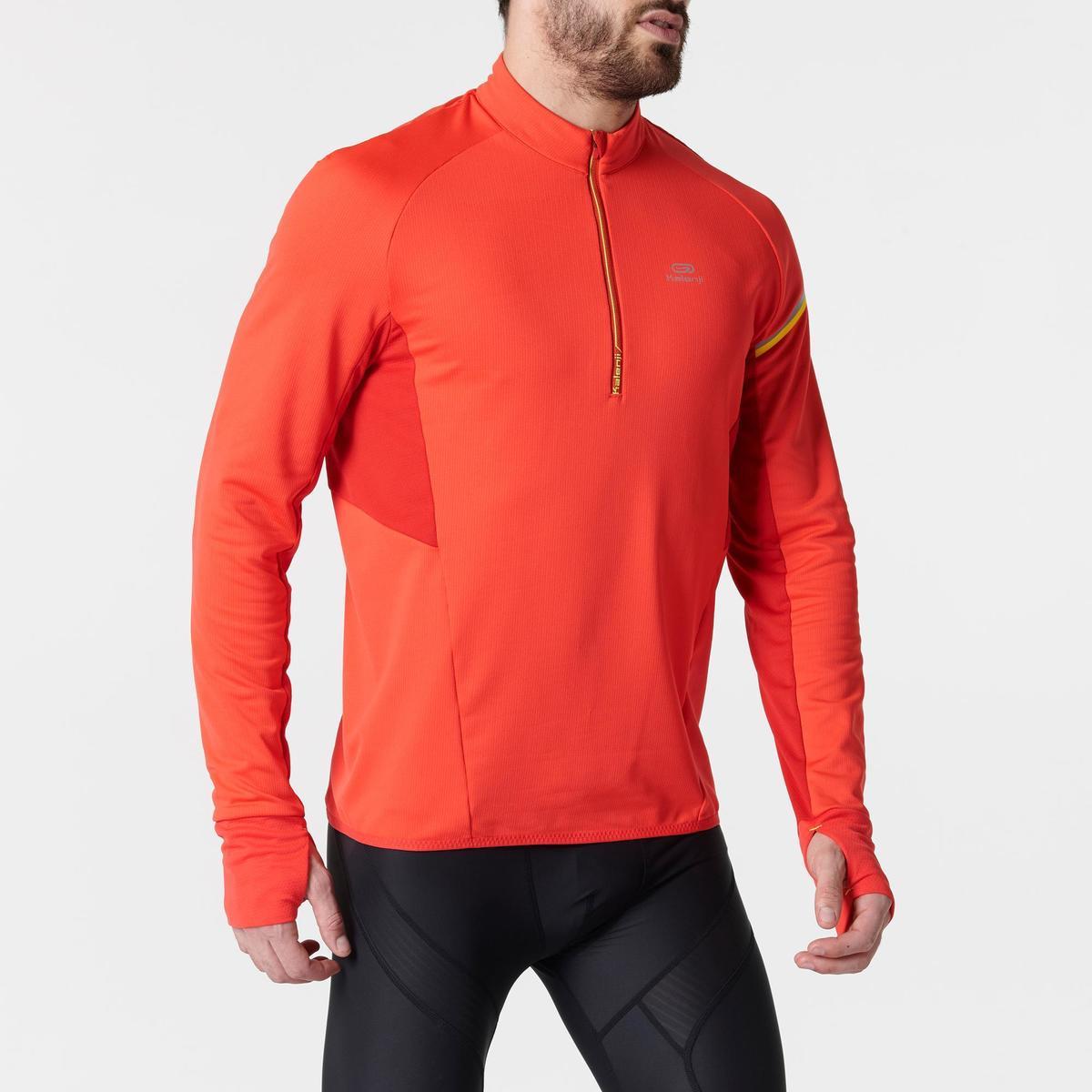 Bild 3 von Laufshirt langarm Kiprun Warm Light Herren rot