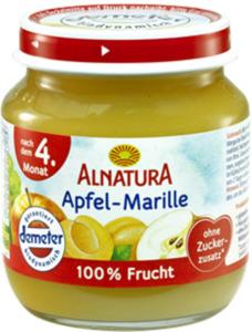 Alnatura Bio Apfel-Marille, nach dem 4. Monat 125 g